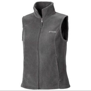 ❄️{Columbia}Gray Fleece Vest w/Zipper Pockets❄️